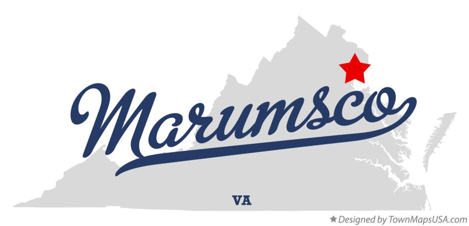 Map of Marumsco Virginia VA