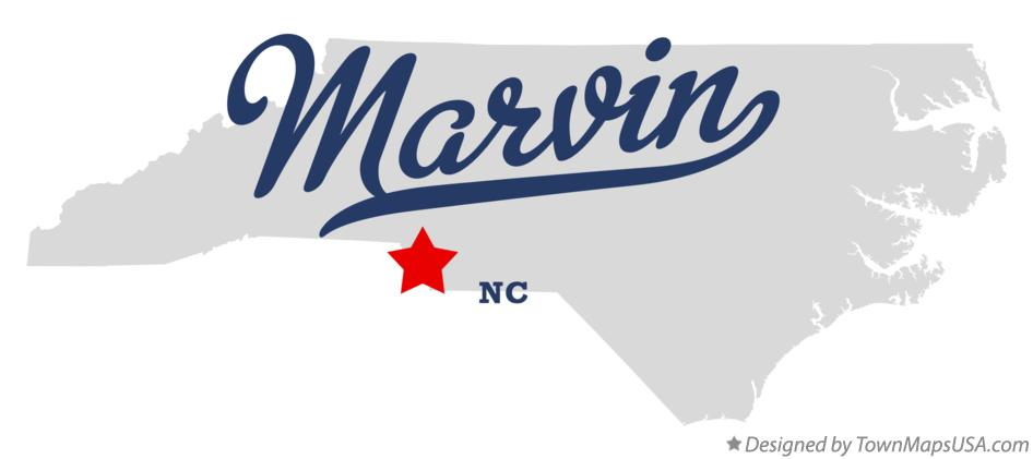 Map of Marvin North Carolina NC