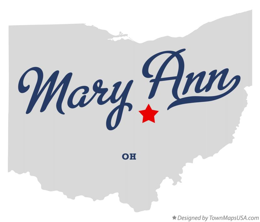 Map of Mary Ann Ohio OH