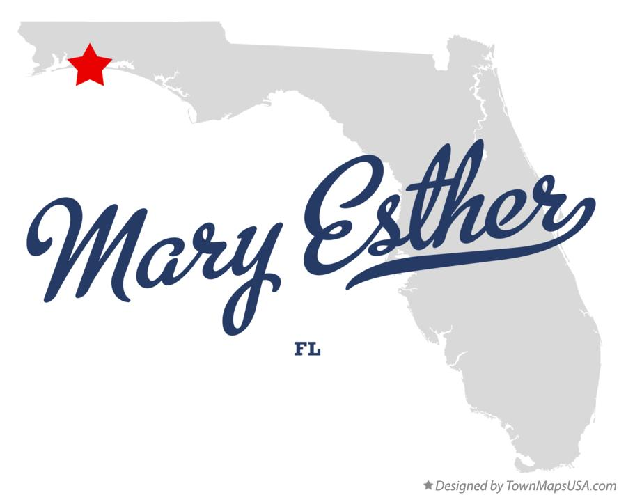 Mary Ester Florida Map.Map Of Mary Esther Fl Florida