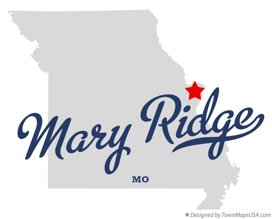 Map of Mary Ridge Missouri MO