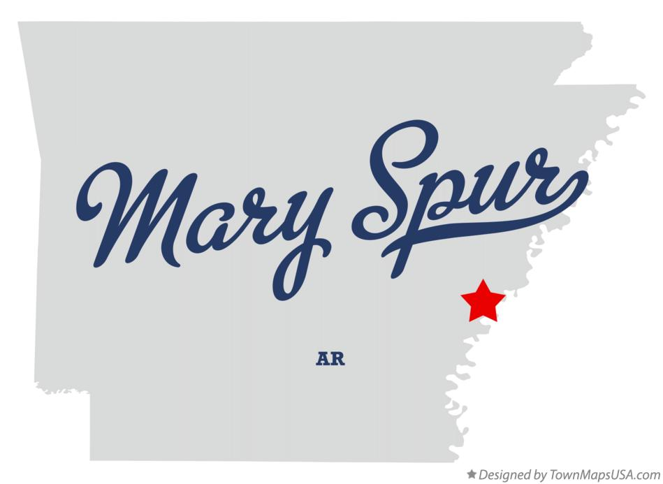 Map of Mary Spur Arkansas AR