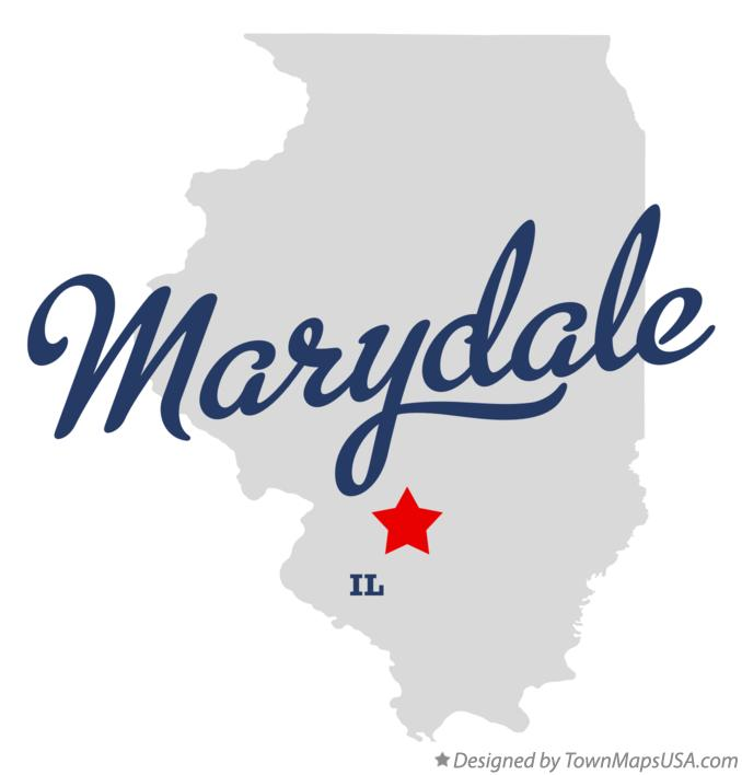 Map of Marydale Illinois IL