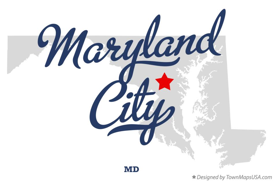 Map of Maryland City Maryland MD