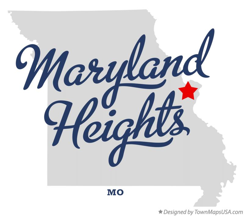 Map of Maryland Heights Missouri MO
