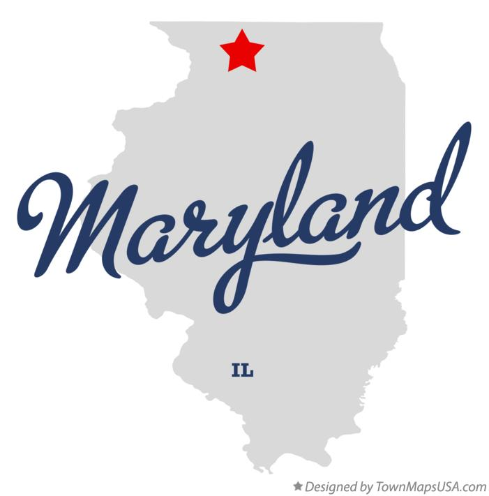 Map of Maryland Illinois IL