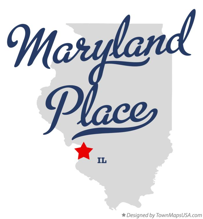 Map of Maryland Place Illinois IL