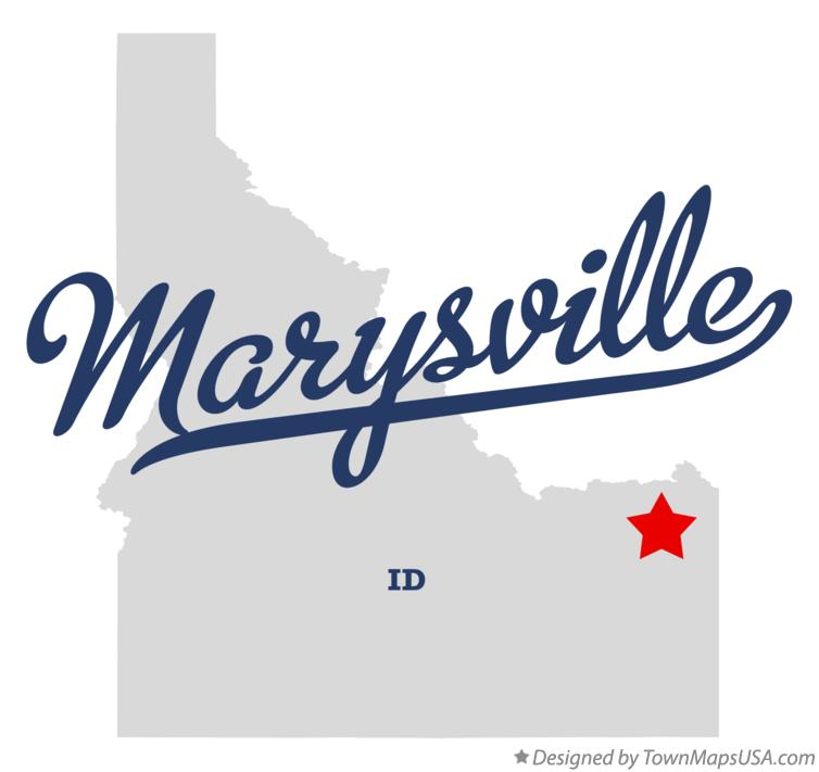Map of Marysville Idaho ID