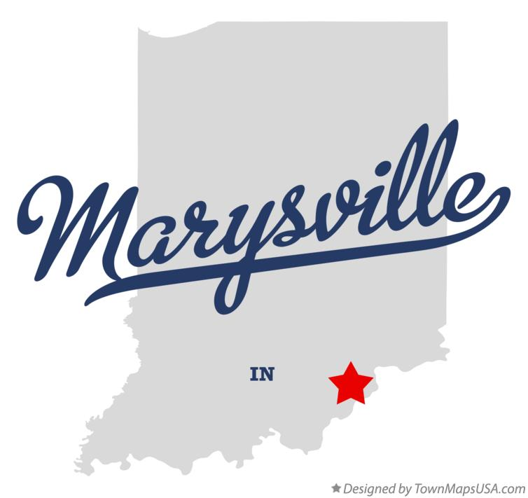 Map of Marysville Indiana IN
