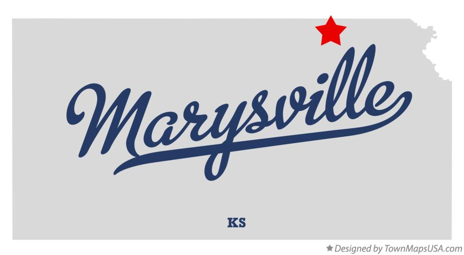 Map of Marysville Kansas KS