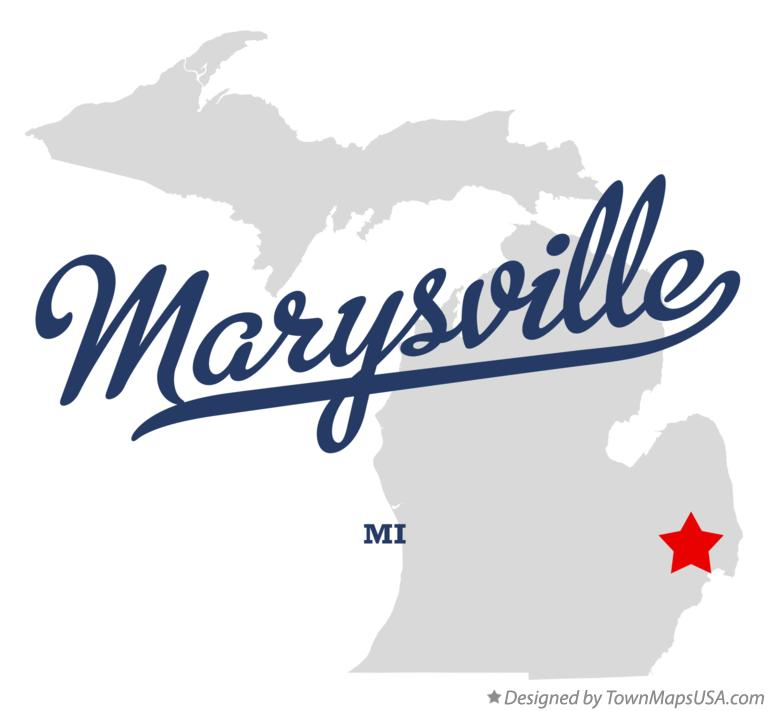 Map of Marysville Michigan MI