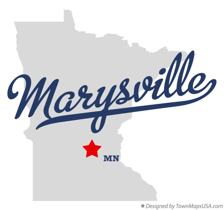 Map of Marysville Minnesota MN