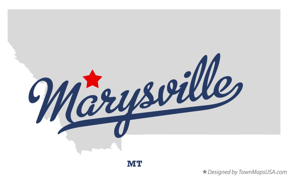 Map of Marysville Montana MT