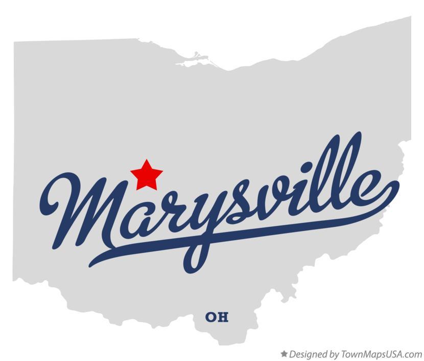 Map Of Marysville Union County Oh Ohio