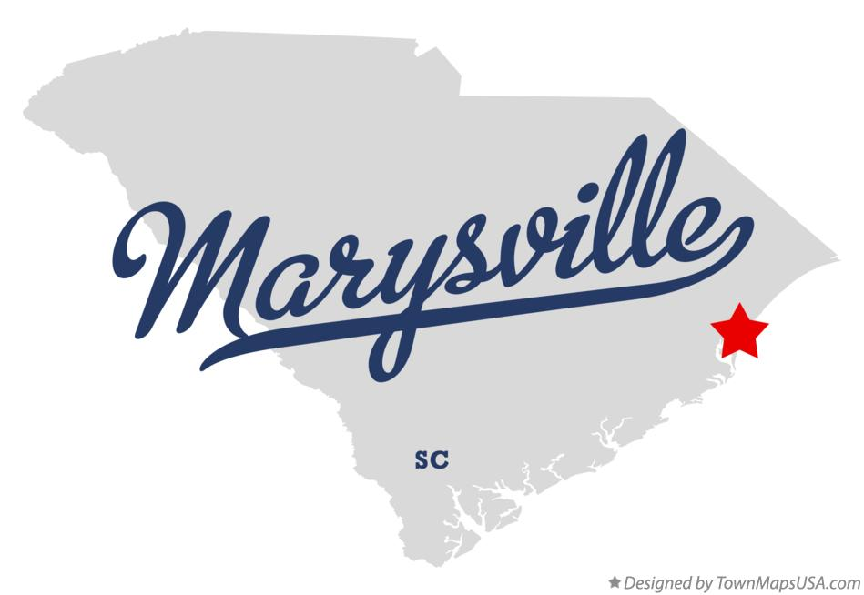 Map of Marysville South Carolina SC