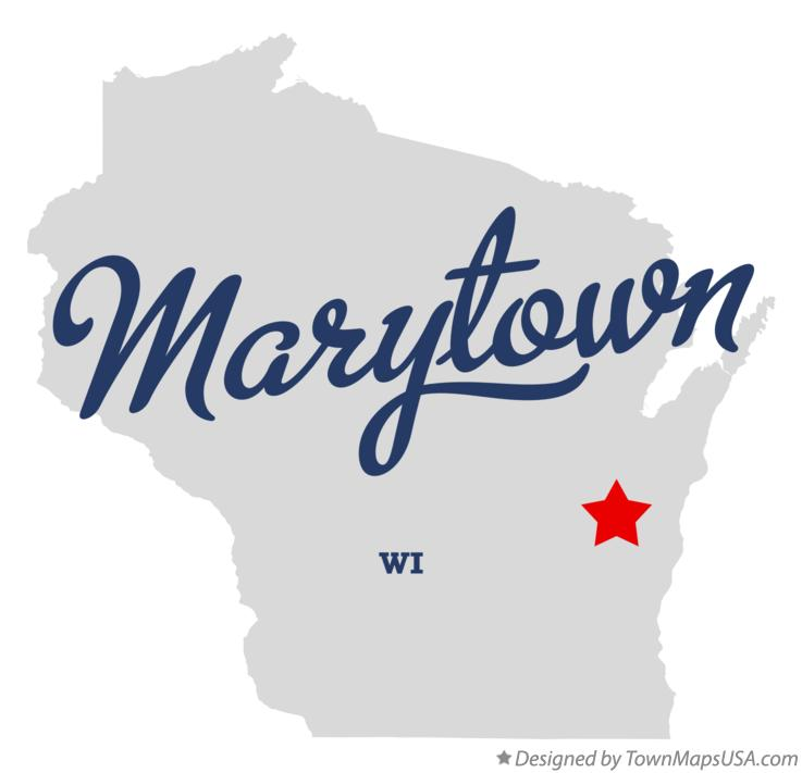 Map of Marytown Wisconsin WI