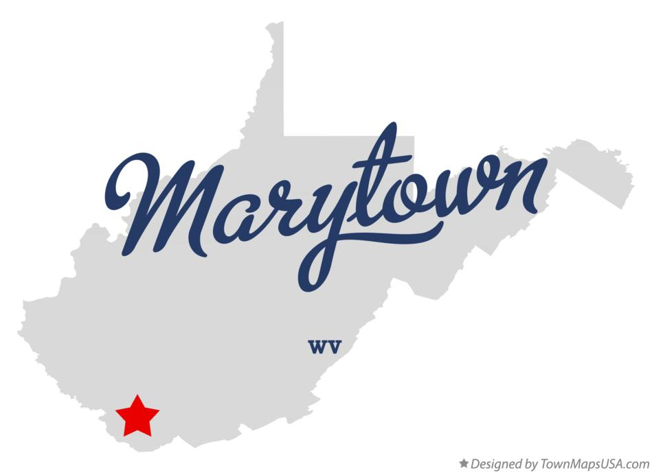 Map of Marytown West Virginia WV