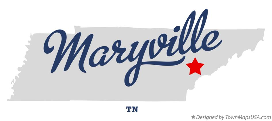 Map Of Maryville Tn Tennessee