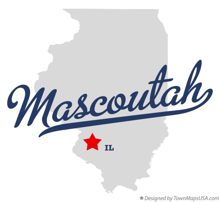 Map of Mascoutah Illinois IL