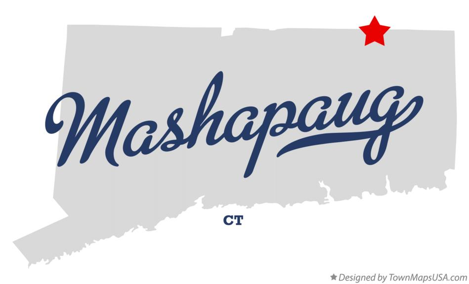 Map of Mashapaug Connecticut CT