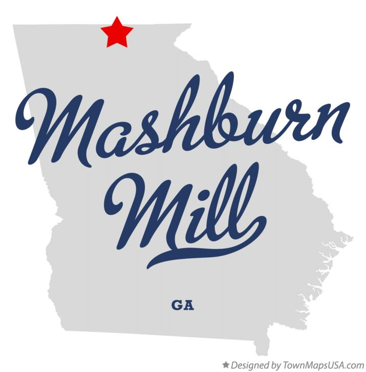 Map of Mashburn Mill Georgia GA
