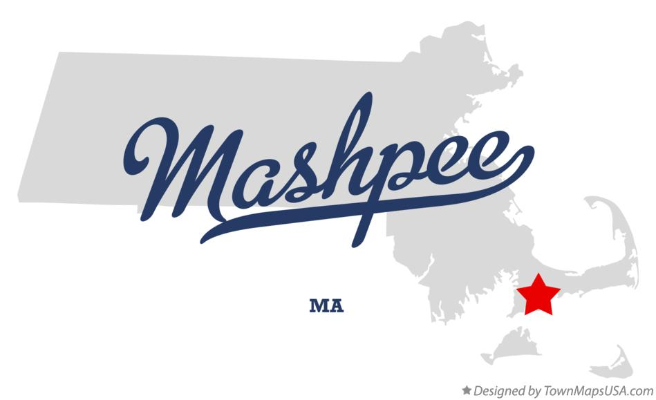 Map of Mashpee Massachusetts MA