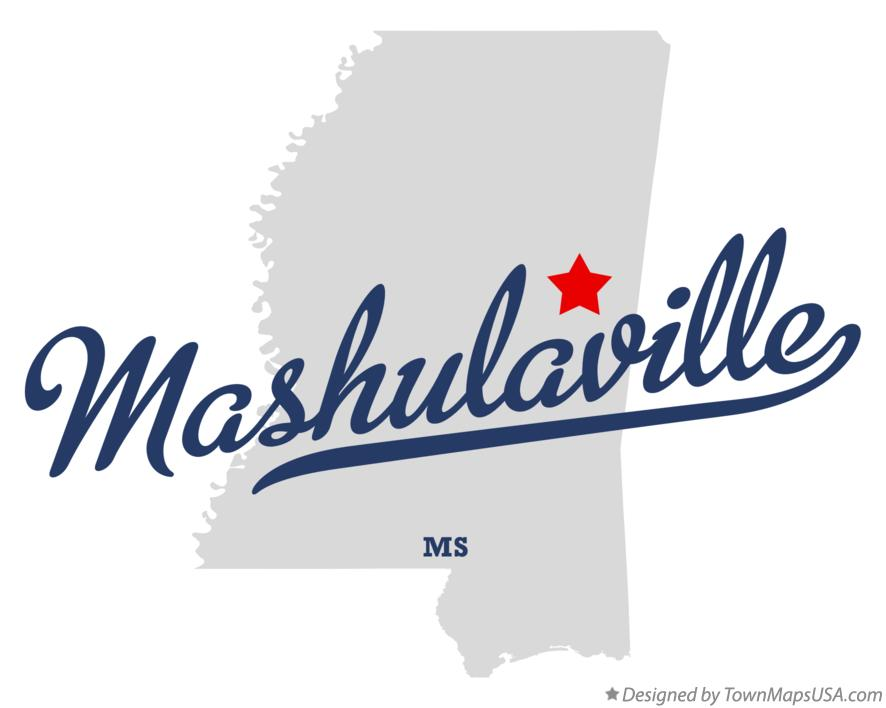 Map of Mashulaville Mississippi MS