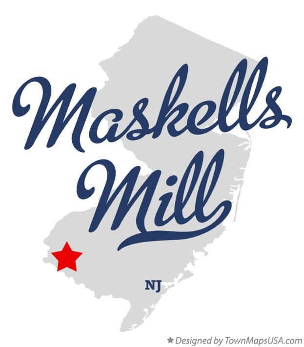 Map of Maskells Mill New Jersey NJ
