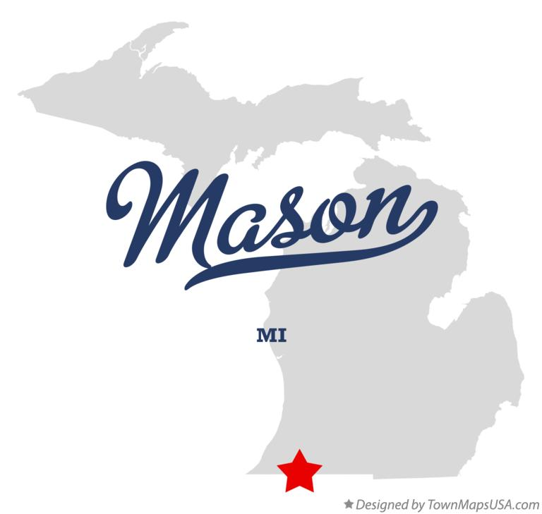 Map of Mason Michigan MI
