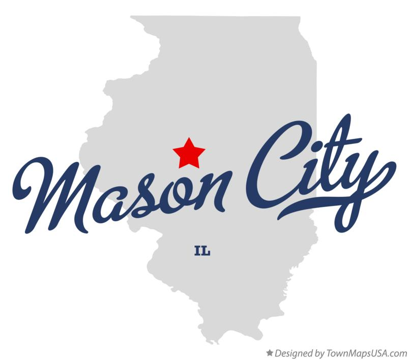 Map of Mason City Illinois IL