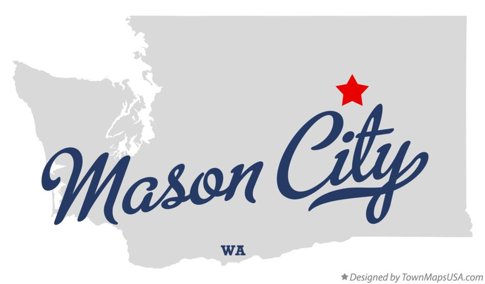 Map of Mason City Washington WA