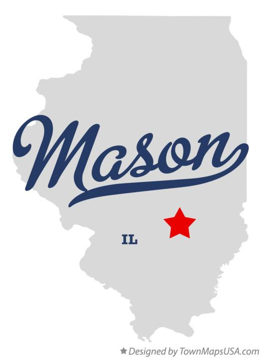 Map of Mason Illinois IL