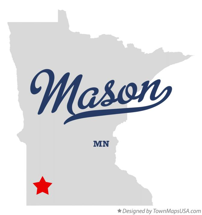 Map of Mason Minnesota MN