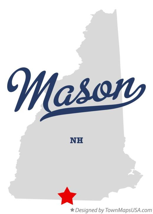 Map of Mason New Hampshire NH