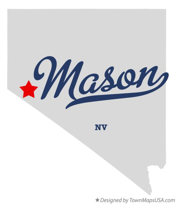 Map of Mason Nevada NV