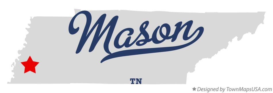 Map of Mason Tennessee TN