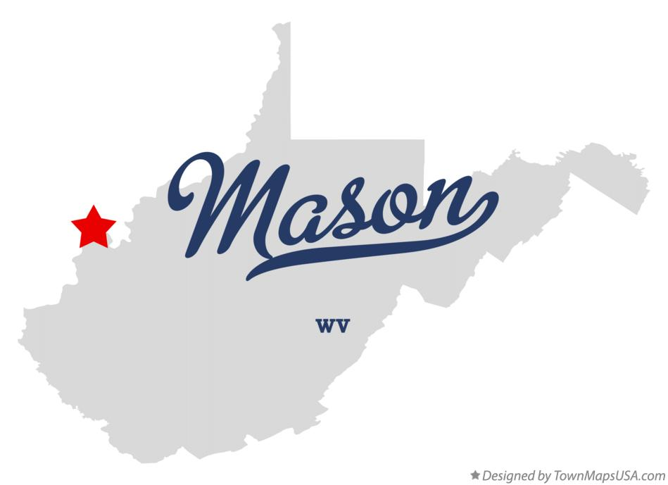 Map of Mason West Virginia WV