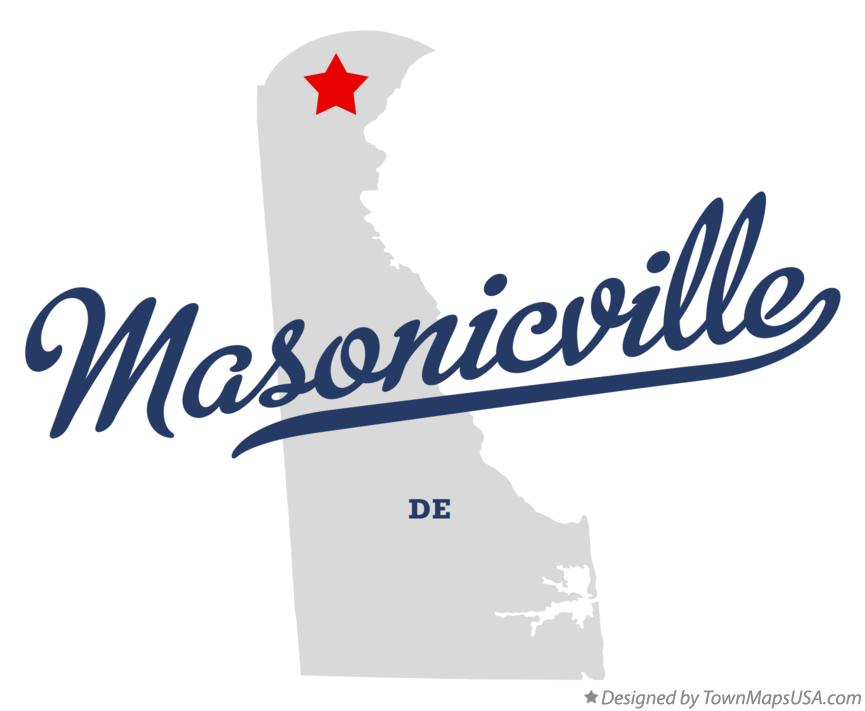 Map of Masonicville Delaware DE