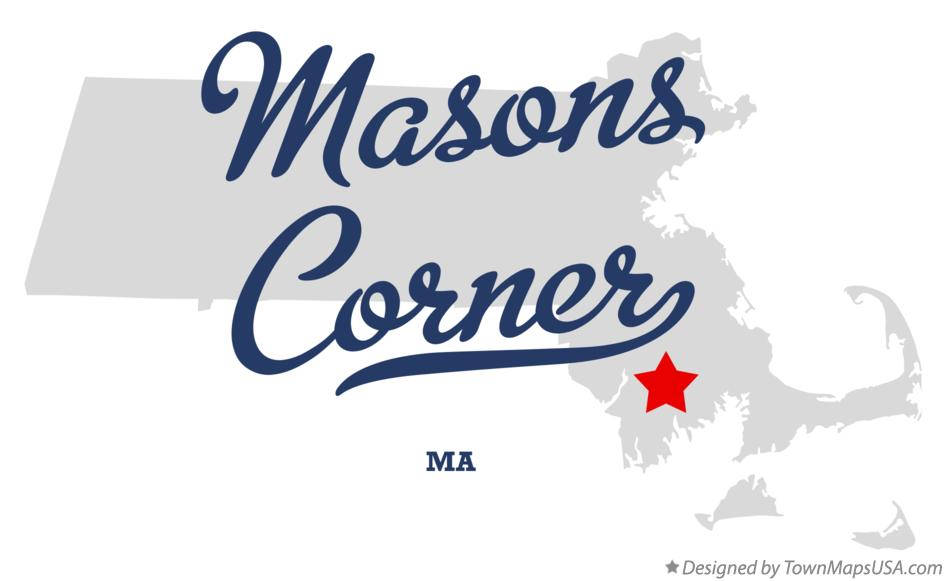 Map of Masons Corner Massachusetts MA
