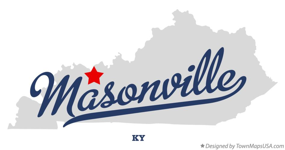 Map of Masonville Kentucky KY