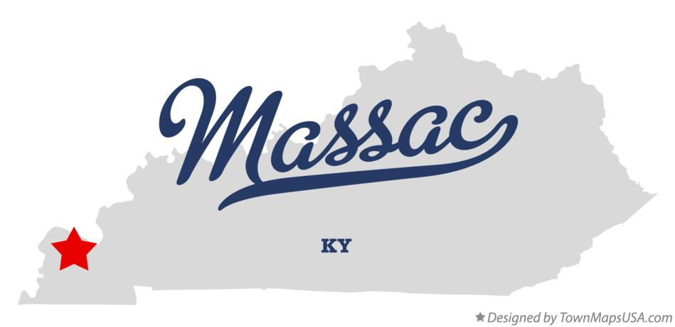 Map of Massac Kentucky KY