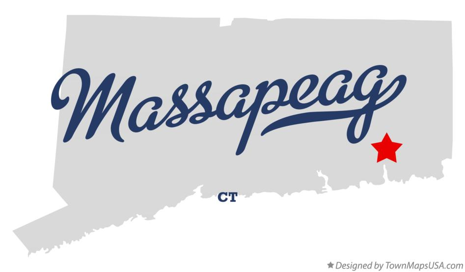 Map of Massapeag Connecticut CT