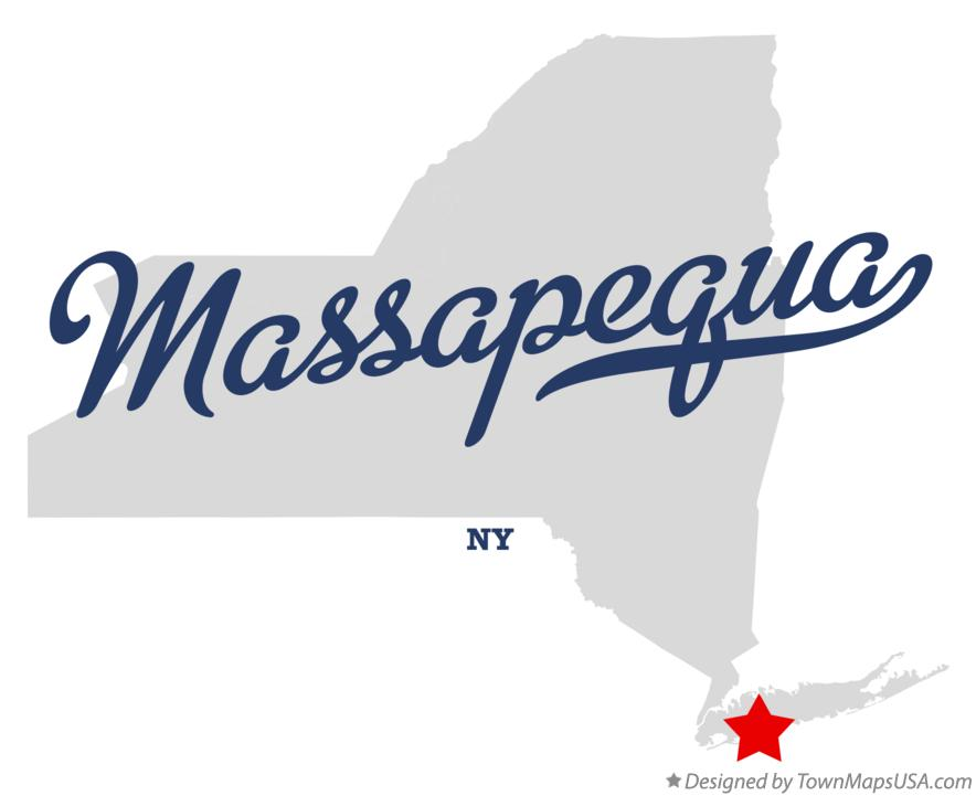 Map of Massapequa New York NY