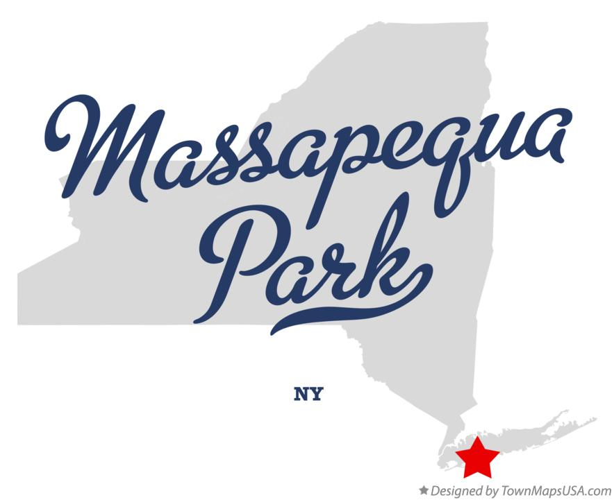 Map of Massapequa Park New York NY