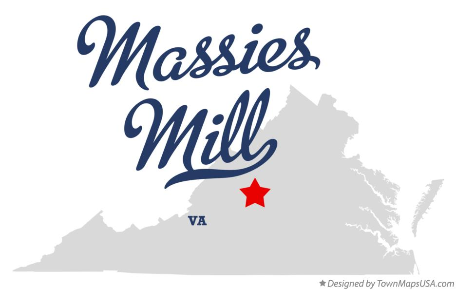 Map of Massies Mill Virginia VA
