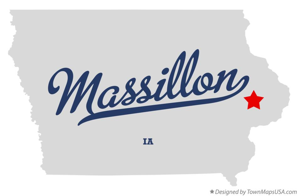 Map of Massillon Iowa IA