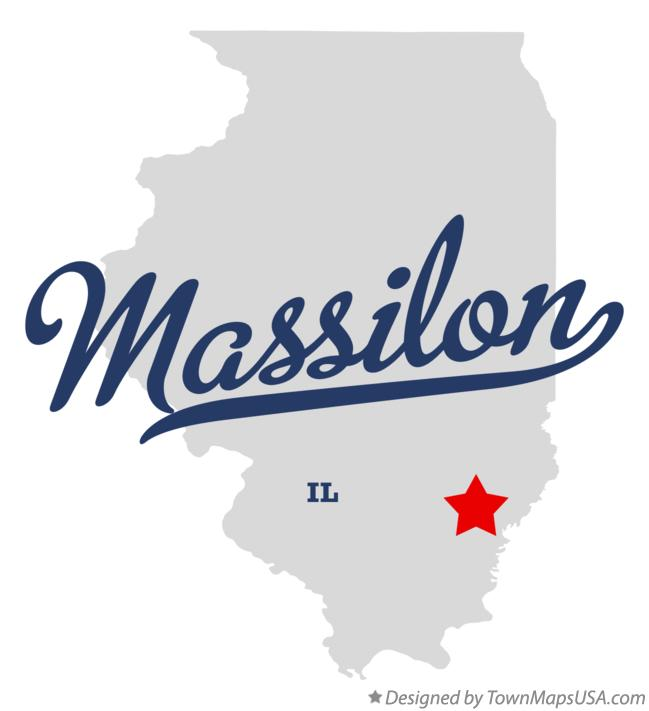 Map of Massilon Illinois IL