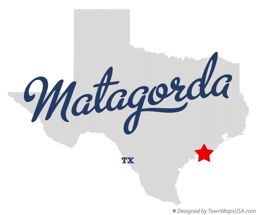 Map of Matagorda Texas TX