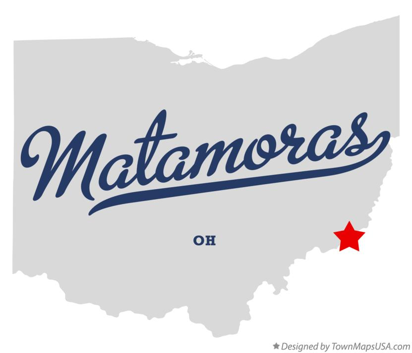 Map of Matamoras Ohio OH