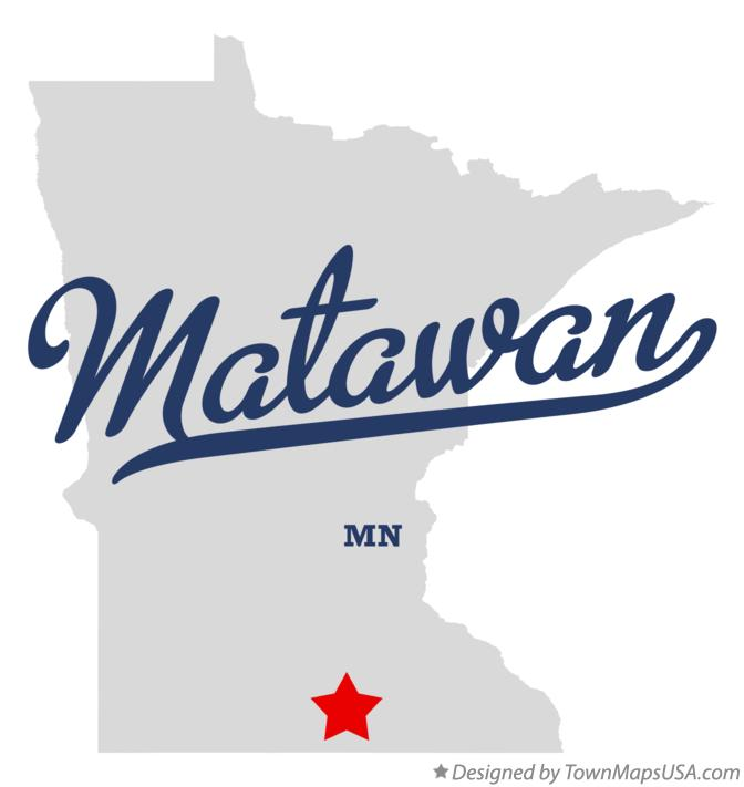 Map of Matawan Minnesota MN